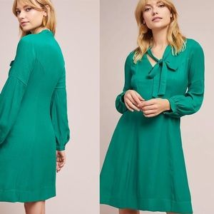 Anthropologie Moulinette Gina Green Dress Size 10